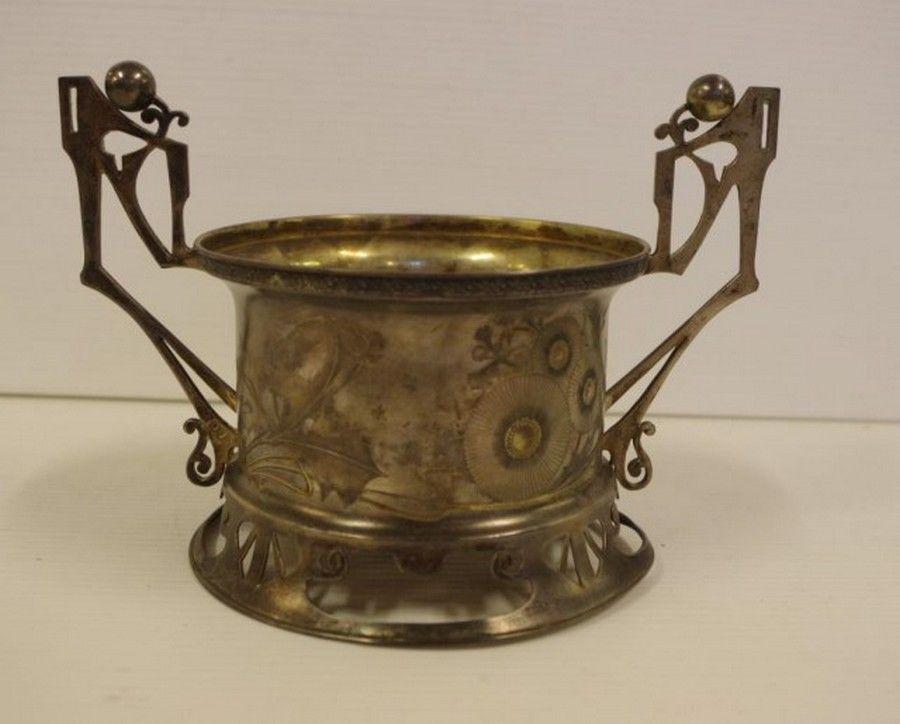 Art Nouveau Russian silver bottle/decanter coaster, 84