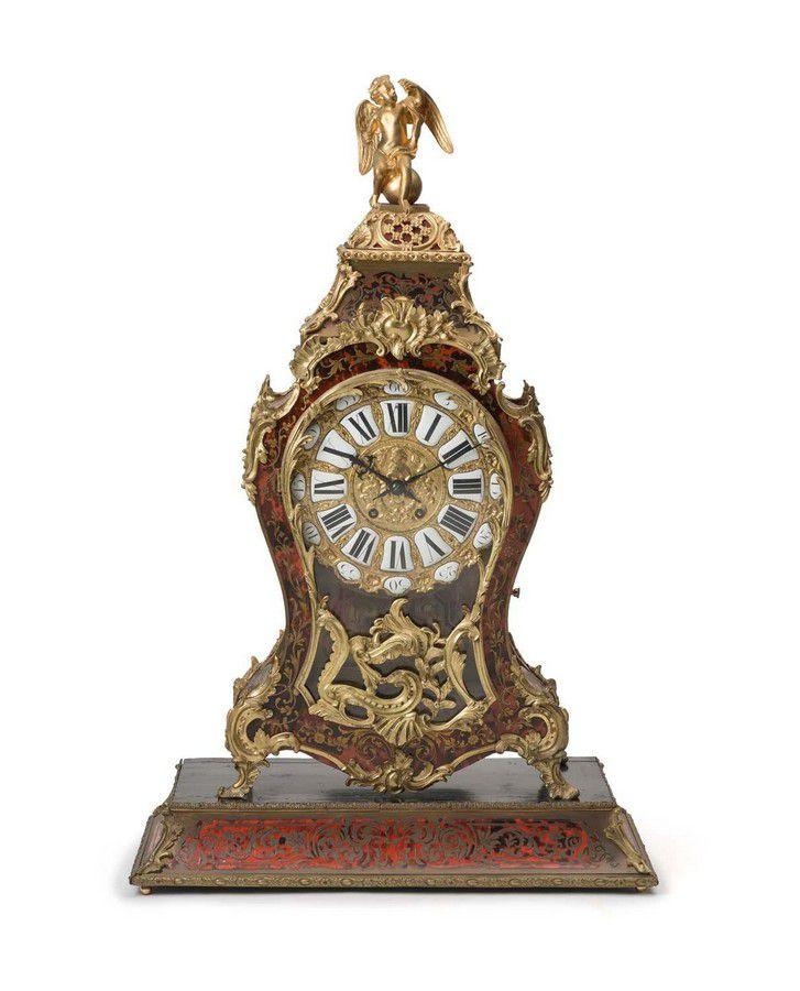 A Louis Xv Style Ormolu Mounted Boulle Bracket Clock