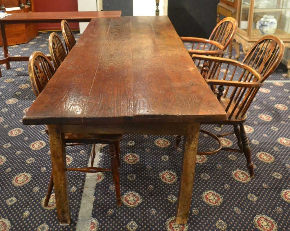 18th century English oak refectory table, height 78 cm ...