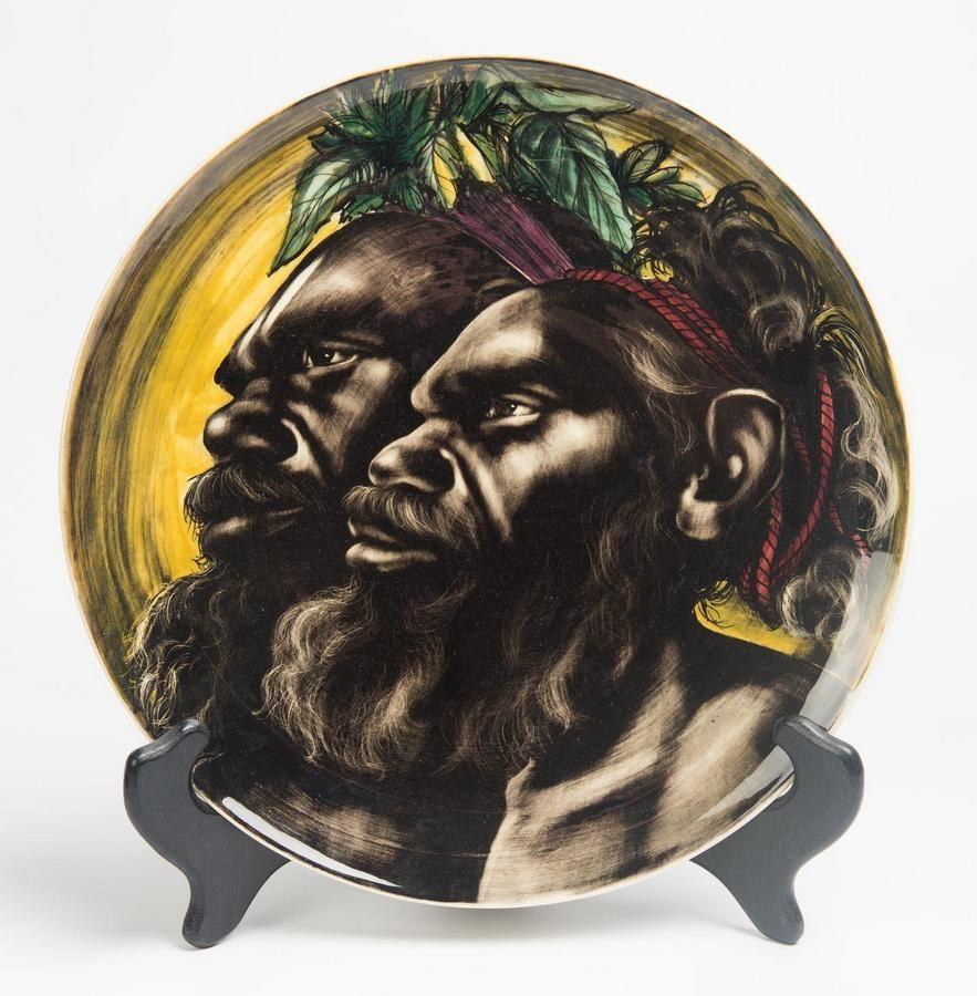 Martin Boyd (1923-1988). A slip cast glazed earthenware platter,…