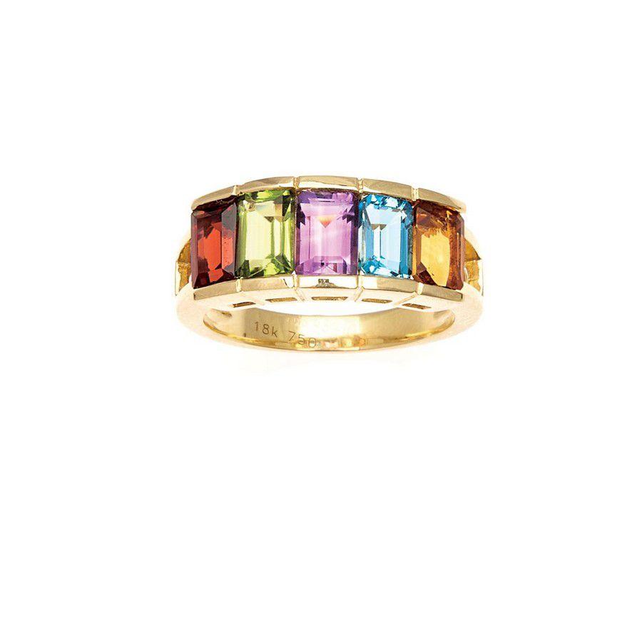 Multi-gem channel set ring