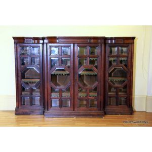 Magnificent Antique Breakfront Bookcase Price Guide And Values Door Handles Collection Olytizonderlifede