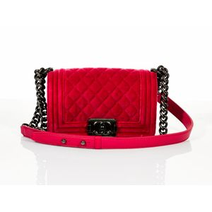 5f14cd1c36dc Chanel, small boy flap bag, bubble gum rose pink quilted velvet and  lambskin, internal slip pocket, ruthenium hardware, adjustable ruthenium  chain link and ...