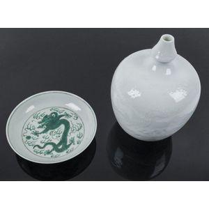 "Porcelain Horse Fengshui Success Whiteware Dehua 13.5/"""