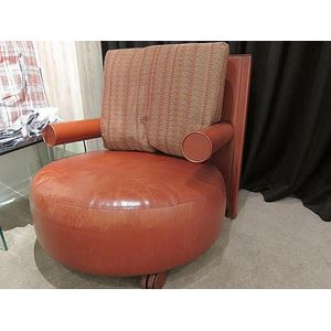 Round leather armchair designed 1987 manufactured by Bu0026B Italia with original cushion top of the arm rests are impressed u0027Bu0026B Italiau0027  sc 1 st  Carteru0027s Price Guide to Antiques and Collectables & Furniture - Bu0026b Italia - Carteru0027s Price Guide to Antiques and ...