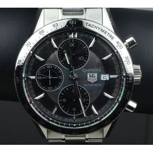 2857a5fb737c A tag Heuer Carrera calibre 16 gents watch automatic chronograph movement  mother of pearl dial with date display stainless steel case and bracelet  band ...