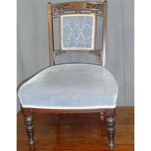 A late Victorian nursing chair with blue buttoned upholstery 70 cm high 38 cm wide 54 cm deep  sc 1 st  Carteru0027s Price Guide to Antiques and Collectables & Nursing - Chairs Singles/pairs - Carteru0027s Price Guide to Antiques ...