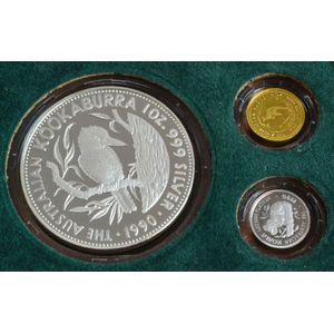 1990 Western Australia WA $10 Ten Dollar States Series Silver Proof Coin RAM