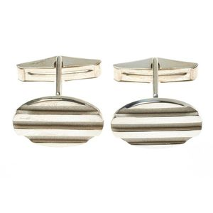 Engraveable Cuff Links 13.5mm Square 925 Sterling Silver Engravable Cuff Links