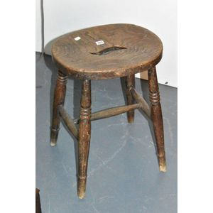 Magnificent Antique Wooden Milking Stool Price Guide And Values Pabps2019 Chair Design Images Pabps2019Com