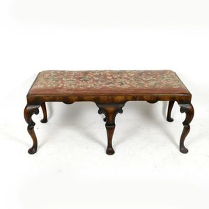 Edwardian (1901-1910) Benches/stools Edwardian Footstool With Tapestry Top Up-To-Date Styling