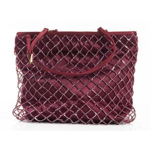 870d81a951e29f An evening bag by Prada, styled in Burgundy satin with beaded detail, 16 x  15 x 5cm. Show 1 more like this