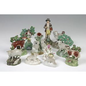 Staffordshire Potteries (England) dogs - price guide and