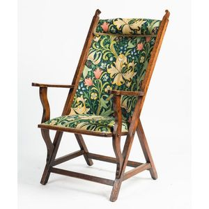 An English Arts And Crafts Style Oak Armchair Circa 1920