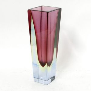 A Murano gl vase, sommerso cranberry and yellow in a clear ... on yellow contemporary vase, yellow cube vase, yellow mccoy vase, yellow art deco vase, yellow butterfly vase, yellow weller pottery vase, yellow glass vase, yellow chinese vase,