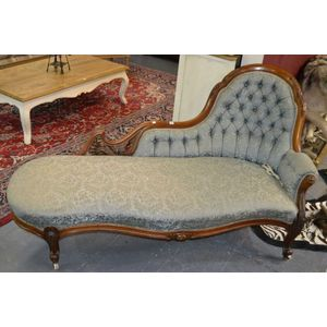 Chaise Longue - Carter's Price Guide to Antiques and Collectables on victorian candles, victorian mother's day, victorian rocking chair, victorian chest, victorian wheelchair, victorian couch, victorian club chair, victorian loveseat, victorian recliner, victorian credenza, victorian nursing chair, victorian chaise lounge, victorian chaise furniture, victorian sideboard, victorian urns, victorian folding chair, victorian era chaise, victorian office chair, victorian country, victorian tables,