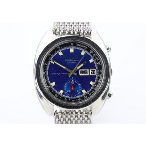 30c00de9b A vintage Seiko chronograph automatic wristwatch, ref: 6139-6041 in stainless  steel with blue dial, luminous hands and markers, subsidiary register, day  ...