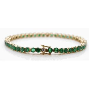 Gold With Emeralds Bracelets And Bangles Price Guide And Values