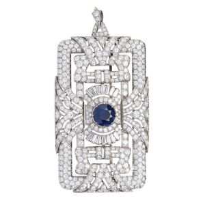 d28cb4221558a sapphires brooch - price guide and values