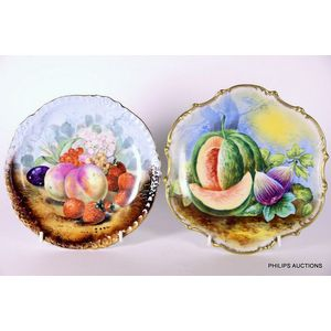 Limoges (France) cabinet, fruit and display plates - price guide and