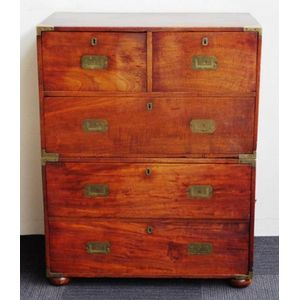 innovative design 7501f 113e7 antique campaign and military chest of drawers - price guide ...