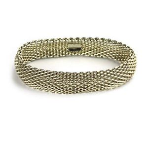 7c2cb8644 A Tiffany & Co sterling silver Somerset mesh bracelet, with plaque marked  Tiffany & Co 925, 21 cm.