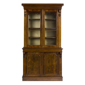 A Victorian Rosewood Bookcase With Carved Corbels And Fretwork Decoration C1860 228 Cm High 123 Wide 49 Deep
