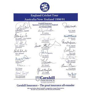 cricket memorabilia team sheets - price guide and values