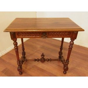 Sidetable 80 Cm.A French Louis Xiii Style Fruitwood One Drawer Side Table