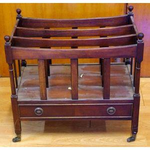 Antiques Popular Brand Antique Georgian Style Mahogany Canterbury Magazine Rack Antique Furniture