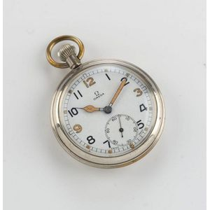 Omega military pocket watch in nickel plated case 660d463f81