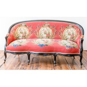 Furniture Benches & Stools 18th C Ornately Carved Hardwood Foot Stool With Colourful Upholstery