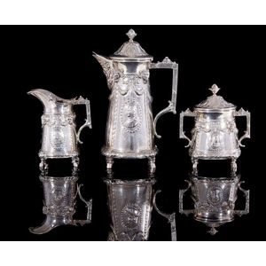 antique sterling silver coffee sets/services - price guide