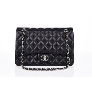 f5e495f115ca Chanel, classic double flap bag, black quilted lambskin, exterior ticket  pocket, internal slip compartments, silver tone hardware with turn lock  closure, ...