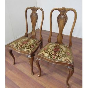 Chairs Singles Pairs Queen Anne Style Price Guide And