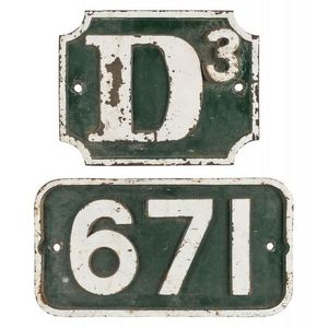 railways memorabilia, signs, plaques and plates - price guide and values