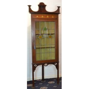 Other Retail & Services Business & Industrial Fine Edwardian Glass Display Cabinet With Two Shelves