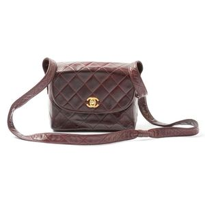 46451c4a48ab A vintage Chanel quilted Burgundy Lambskin bag