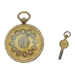 antique open face, gold case pocket watch - price guide and