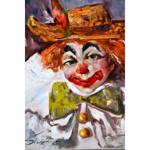 Surant 'The Clown' oil on canvas, signed, 47 x 40 cm - Oil Paintings