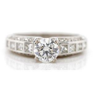 fdfa02ad3 Diamond set 18ct white gold engagement ring marked 18k, approx. 1x round  brilliant cut diamond 5.5mm estimated 0.66ct VS clarity, I-J colourplus 8x  ...