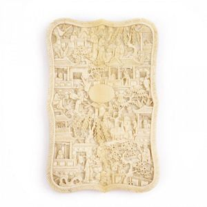 1a02c0509b1f4f ... century Chinese Canton ivory card case C. 1870