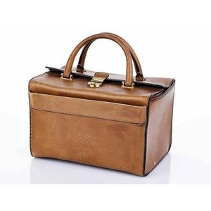 Loewe beige leather  Doctor  bag gold brass hardware, stamped  Loewe 1946   27 x 32 x 23 cm. Show 13 more like this d292fa7db6