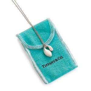 2c85bb3f75 A silver pendant by Tiffany & Co double tear drop pendant, Elsa Peretti  collection, fully hallmarked T & Co; sterling silver. Length 40 cm.