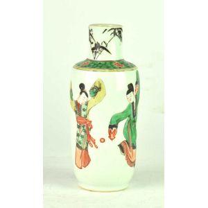 Modern Moorcroft small vase Amazon frog pattern, 2005, 11 cm