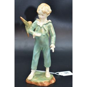 Chinese Boy by Freda Doughty Bone China Vintage 1940\u2019s Royal Worcester  Nations of the World