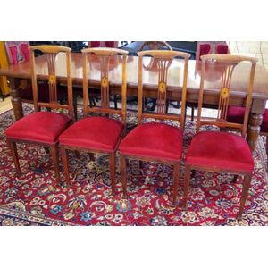 27fcf37d58f1 Set of 4 Edwardian mahogany dining chairs