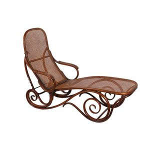 Bentwood Daybed, Austrian 1890u0027s Thonet, With Rattan Seat And Back,  Adjustable