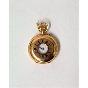 Antique No Name Pocket Watch Movement Porcelain Dial Sale Price 38 Mm In Size