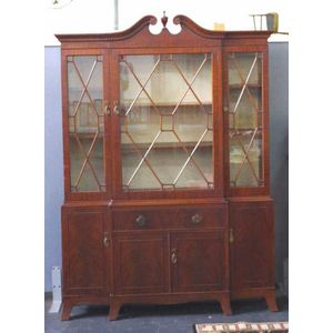 Astonishing Antique Breakfront Bookcase Price Guide And Values Door Handles Collection Olytizonderlifede
